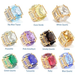 Michael Valitutti Checkerboard Cushion Gemstone Square Shaped Slide-on Charm