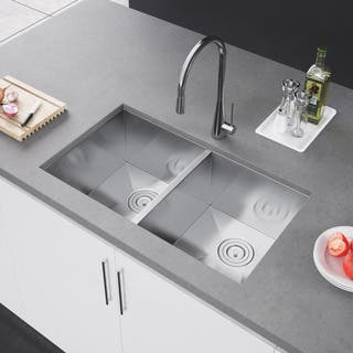 Exclusive Heritage 31 X 18 Double Bowl 50 Undermount Stainless Steel Kitchen Sink