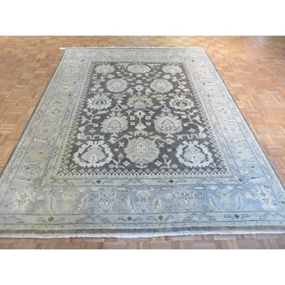 Oushak Brown Wool Hand-knotted Oriental Rug (8 x 10'5)