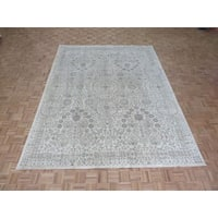 Peshawar Oriental Ivory Wool Hand-knotted Area Rug - 8'10 x 11'6