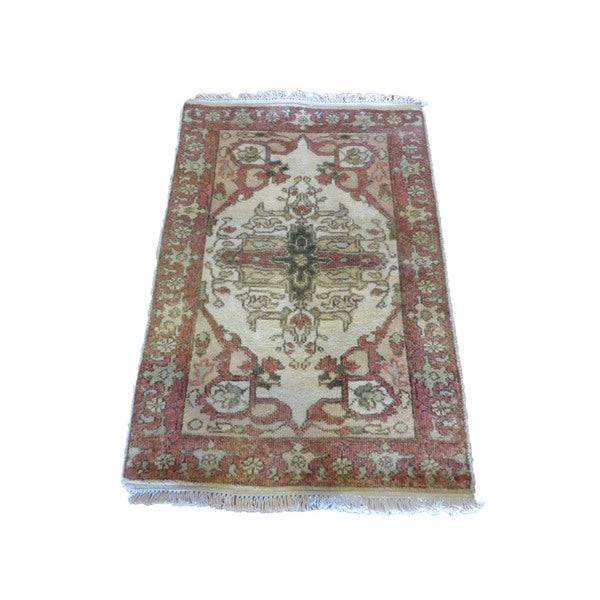 Hand Knotted Heriz Wool Fine Persian Oriental Area Rug: Shop Oriental Multicolored Wool Hand-knotted Fine Serapi