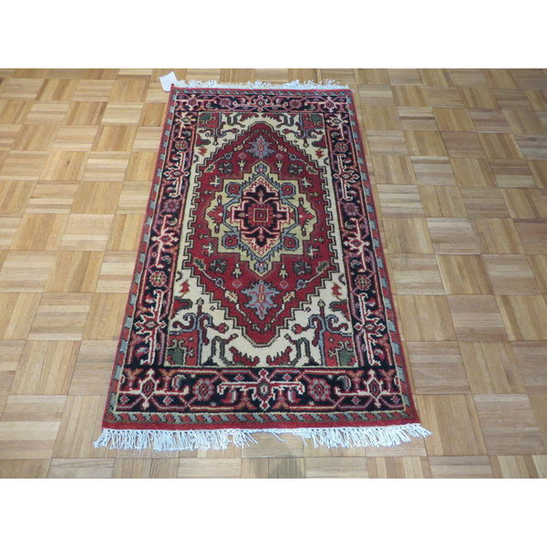 Serapi Heriz Oriental Rust Red Wool Hand-knotted Area Rug (2'7 x 4'7)