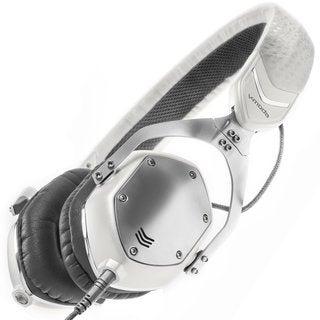 V-MODA XS On-Ear Folding Design Noise-Isolating Metal Headphones (White Silver)