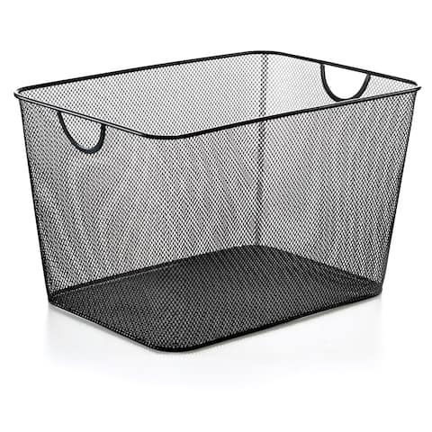 Black Mesh Storage Basket