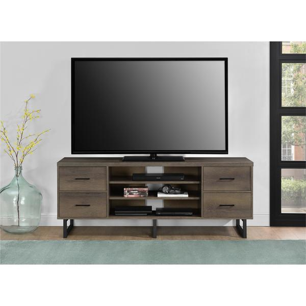 Shop Ameriwood Home Candon Sonoma Mocha Oak 60 Inch Tv Stand With
