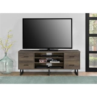 Ameriwood Home Candon Sonoma Mocha Oak 60-inch TV Stand with Bins