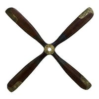 Havenside Home Buckroe 44-inch Brown and Gold Wood Airplane Propeller