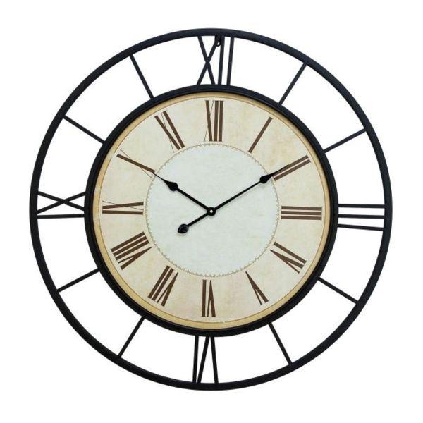 Copper Grove Seymour Black and White Metal Wall Clock