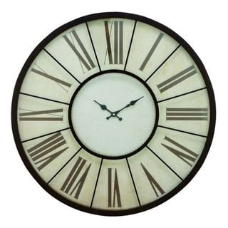 Benzara Anondized Aluminum 27-inch Wall Clock