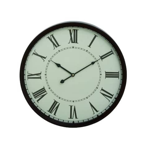 Copper Grove Seymour Black Metal Wall Clock
