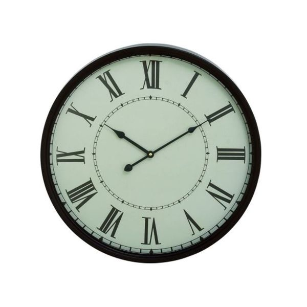 Copper Grove Seymour Black Metal Wall Clock