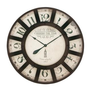 Benzara Metal 32-inch Wall Clock