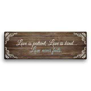 'Love Is Patient, Love Is Kind' 18-inch Canvas Wall Art