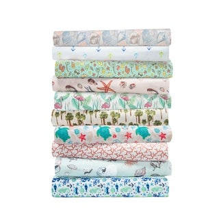 Hotel Coastal Microfiber Print Sheet Set