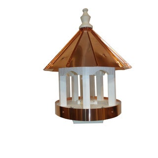 Polished Copper Top Bird Feeder with Copper Trim