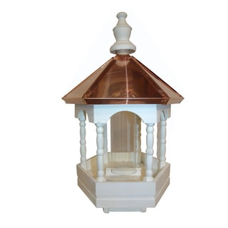 Polished Copper Top Bird Feeder with Fancy Columns