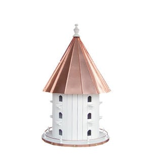 15 Hole Bird House with Polished Copper Roof