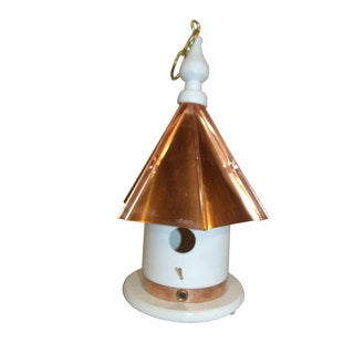 13 Inch High Hanging Bird House with copper top