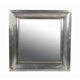 Privilege Wood and Aluminum Wall Mirror