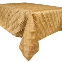 "Allan Andrews Gold Polyester Pintuck Tablecloth - 54"""