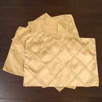 Allan Andrews Gold Polyester Pintuck Placemat (Pack of 4)