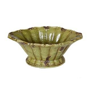 Privilege Green Large Ceramic Bowl