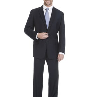 Lazetti Couture Men's Portly Performance Stretch 2 Piece Suit
