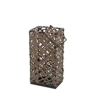 Privilege Brown Resin Wicker Medium Lantern