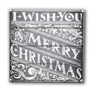 Gallery 57 I Wish You A Merry Christmas Wood Wall Art