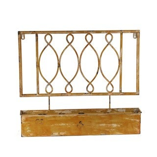 Privilege Yellow Iron Wall Planter