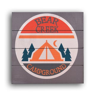 Gallery 57 'Bear Creek Camp' Planked Wood Wall Art