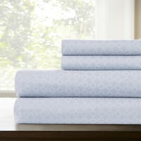 Amraupur Overseas Lattice Printed 4-Piece Sheet Set