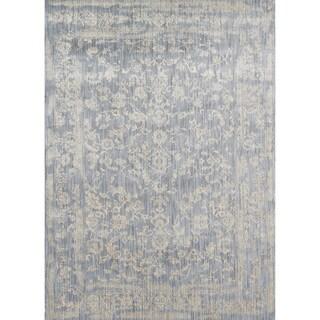 Lucca Floral Light Blue/ Ivory Rug (12'0 x 15'0)