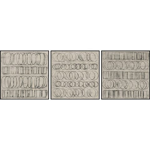 Marmont Hill - Handmade Linked Shapes Triptych