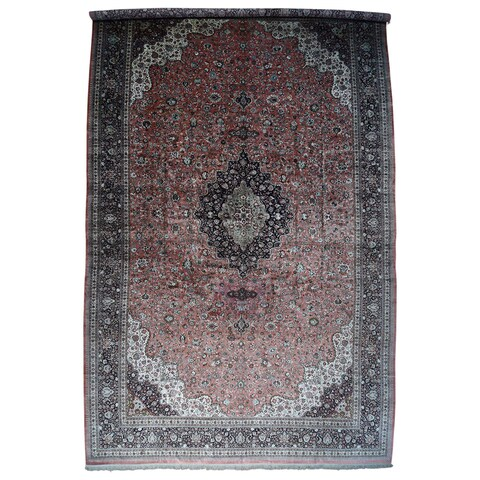 "Hand-Knotted Mansion Size Silk Qum Carpet (17'x27'5"")"