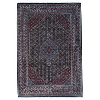 1800GetaRug Indo Bidjar Blue Wool Hand-knotted Oversize Rug (12'x18'2)