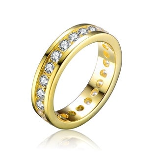 Collette Z Gold Overlay Cubic Zirconia Band Ring Size 6