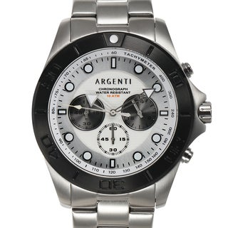 Argenti Horizon Chronograph Men's Watch Stainless Steel Case and Bezel 100m Water Resistant