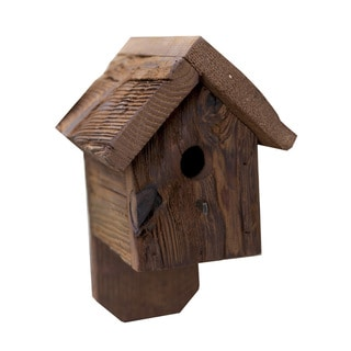 Rustic Barnwood House for Finch Birds