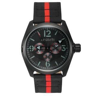 Argenti Modernistic Nylon Men's Watch Multi-Textured Dial Design