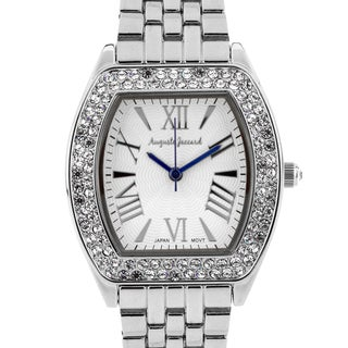 Auguste Jaccard Coquina Ladies Watch Mother of Pearl Dial Crystals Surround Bezel
