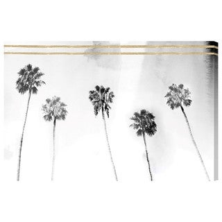 Oliver Gal Golden Tropical View Canvas Art