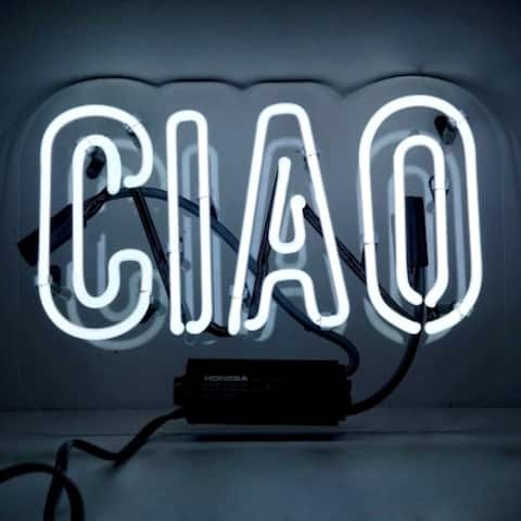 Oliver Gal Ciao Neon Sign