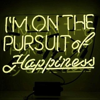 Oliver Gal Pursuit of Happiness Neon Sign