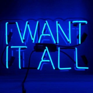 Oliver Gal I Want It All Neon Sign