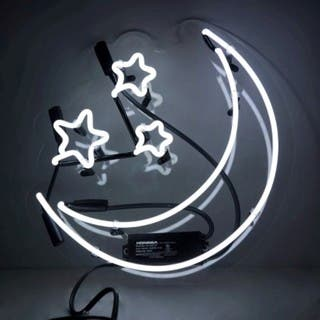 Oliver Gal Moon and Stars Neon Sign