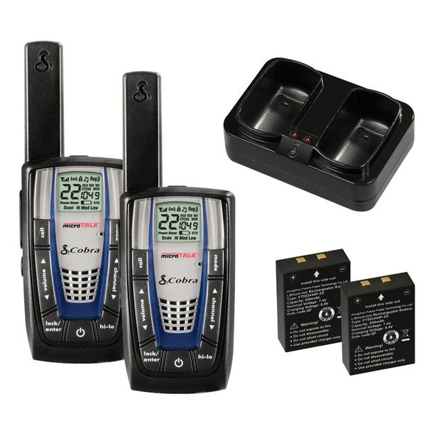 Cobra MicroTalk CXR825 Black ABS 30-mile Two-way Radio