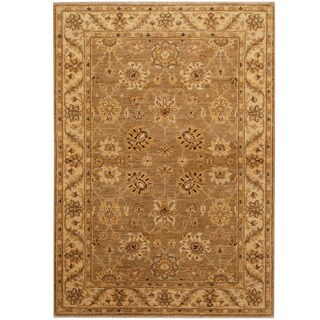 Herat Oriental Afghan Hand-knotted Oushak Wool Rug (4'1 x 5'9)