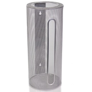 Ybm Home Wall Mount Cylinder Silver Mesh Grocery Bag Saver