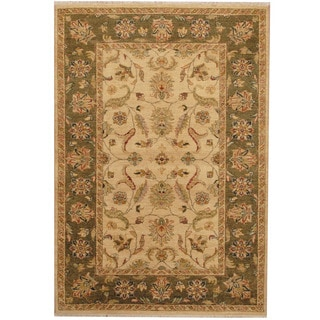 Herat Oriental Indo Hand-knotted Oushak Wool Rug (4'2 x 6')